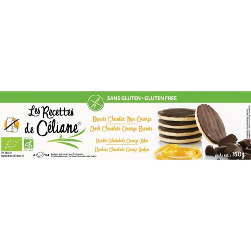 Céliane biscuits chocolat noir orange bio 150g