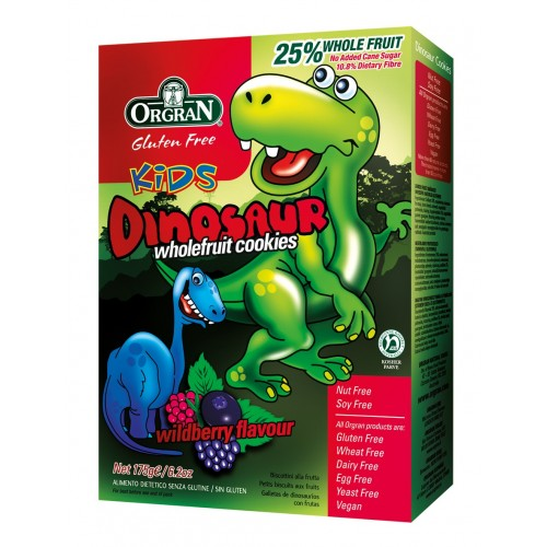 Orgran petits biscuits aux fruits dinosaur 175g