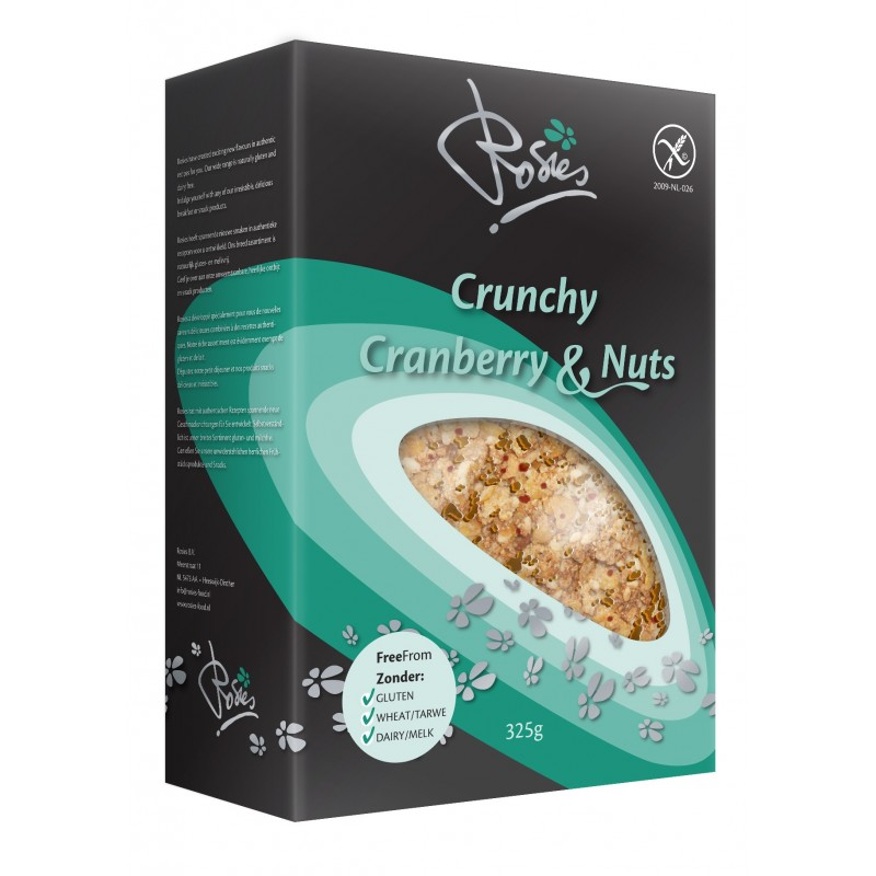 Rosies Crunchy cranberry nuts 325g