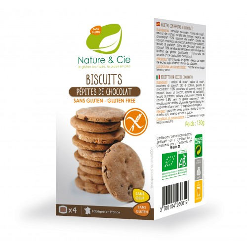 Nature & cie - Biscuits Pépites de Chocolat 130g