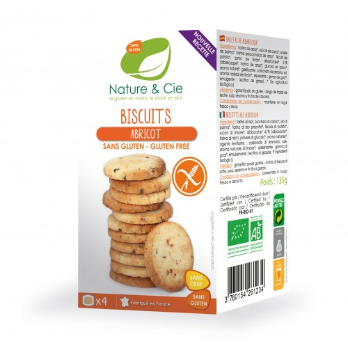 Nature & cie - Biscuits Abricot 135g