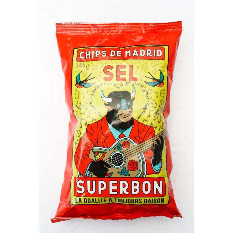 SUPERBON - Grote chips met zout- 145g
