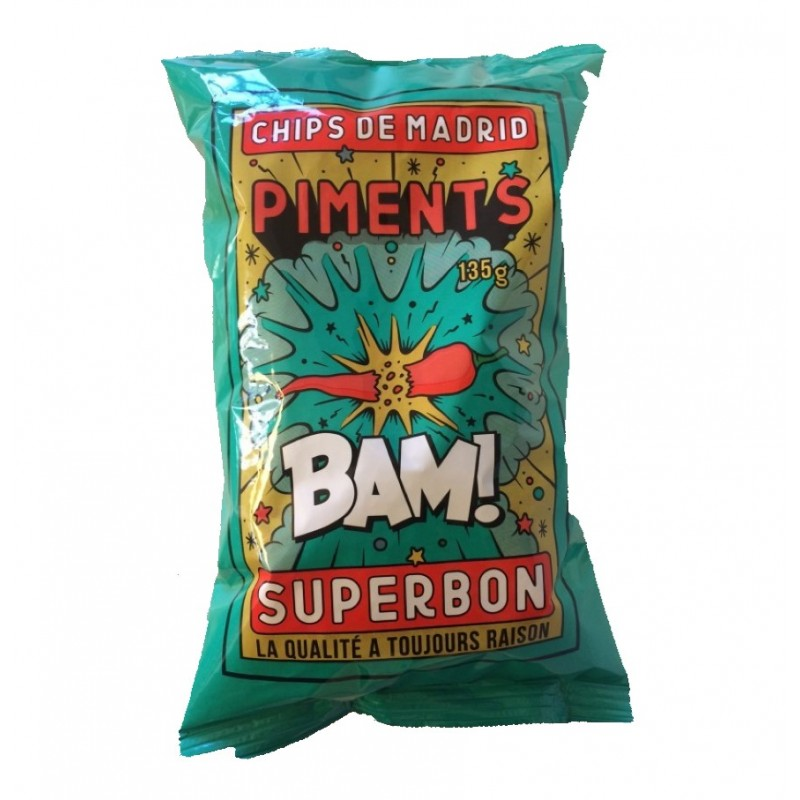 SUPERBON - Grand Chips aux Piments - 135g
