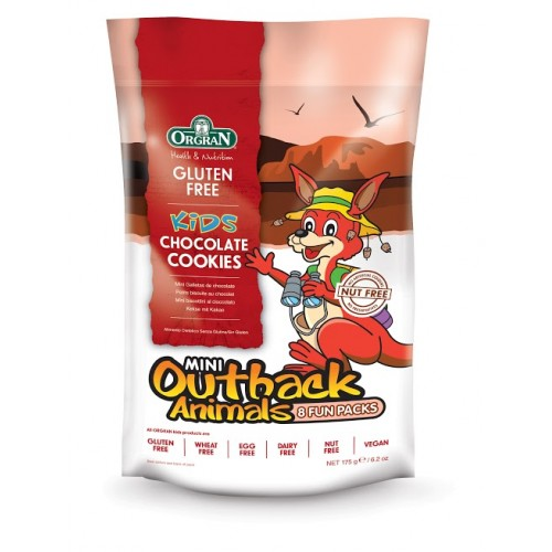 Orgran mini biscuits au chocolat animaux 21,5g-8pc