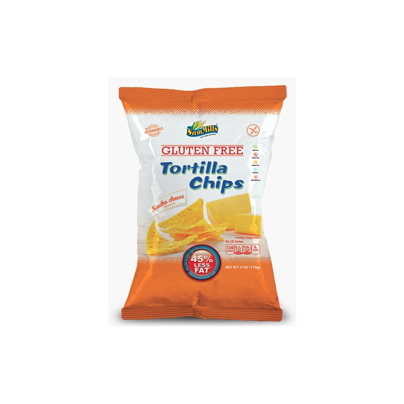 PAK van 5 x Sam Mills tortilla chips Nacho Cheese 125g