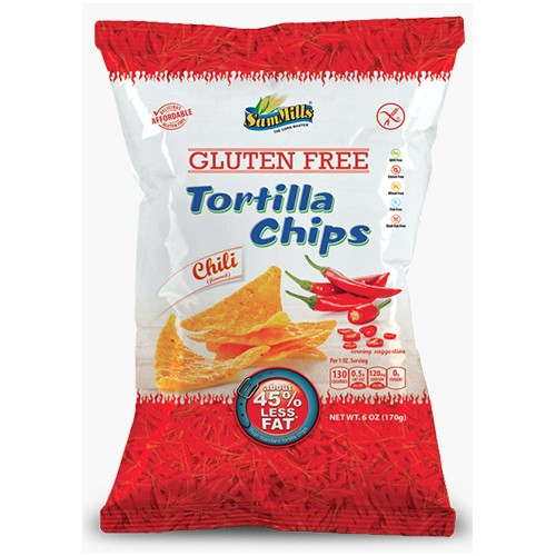 PAK van 5 x Sam Mills tortilla chips Chili 125g