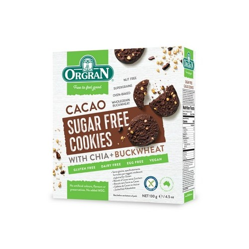Orgran biscuits cacao sans sucre 130g