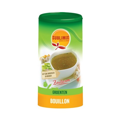 Sublimix groentebouillon 260g zoutarm