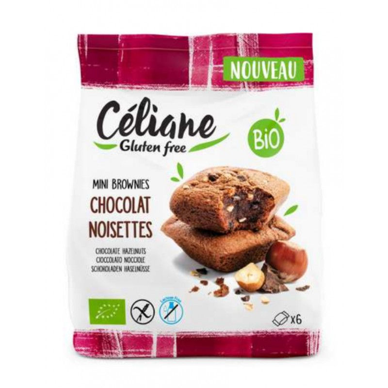 Céliane Mini Brownies chocolat noisettes bio 170g sans gluten