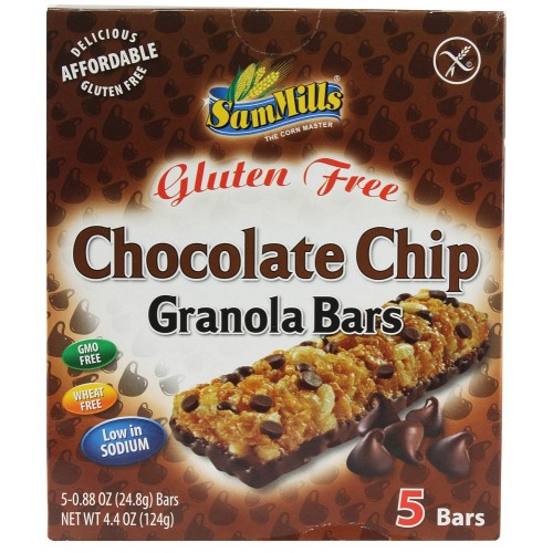 Sam Mills granola bars chocolate chip 25g-5pcs