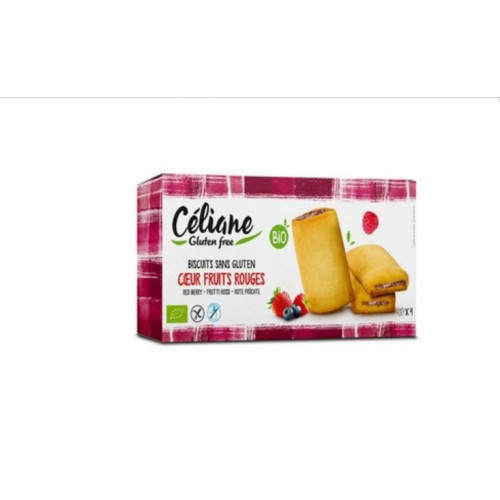 Céliane biscuits fourrés cœur fruits rouges 160g bio