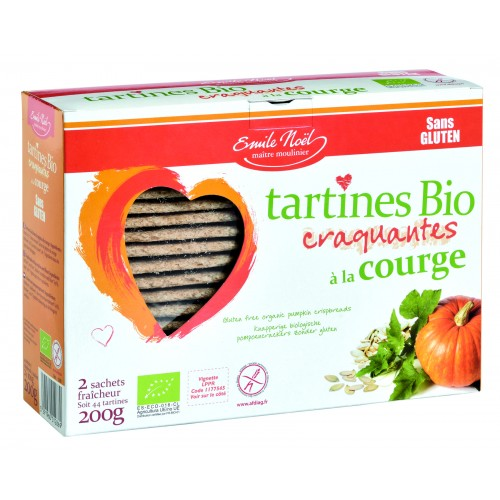 Emile Noël Tartines aux grains de courges 2x100g