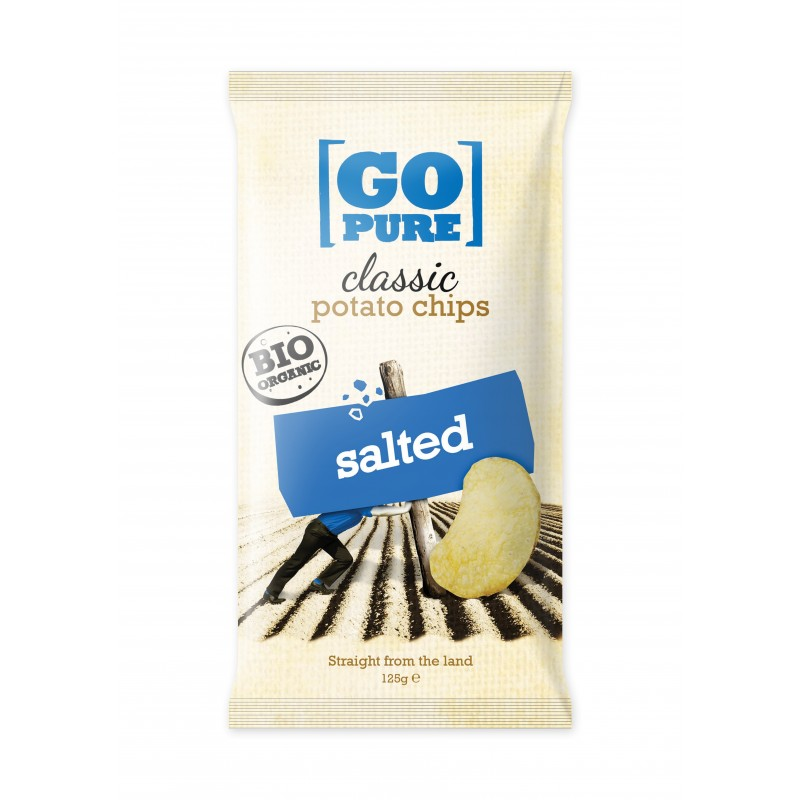Go Pure Chips Sel 125g